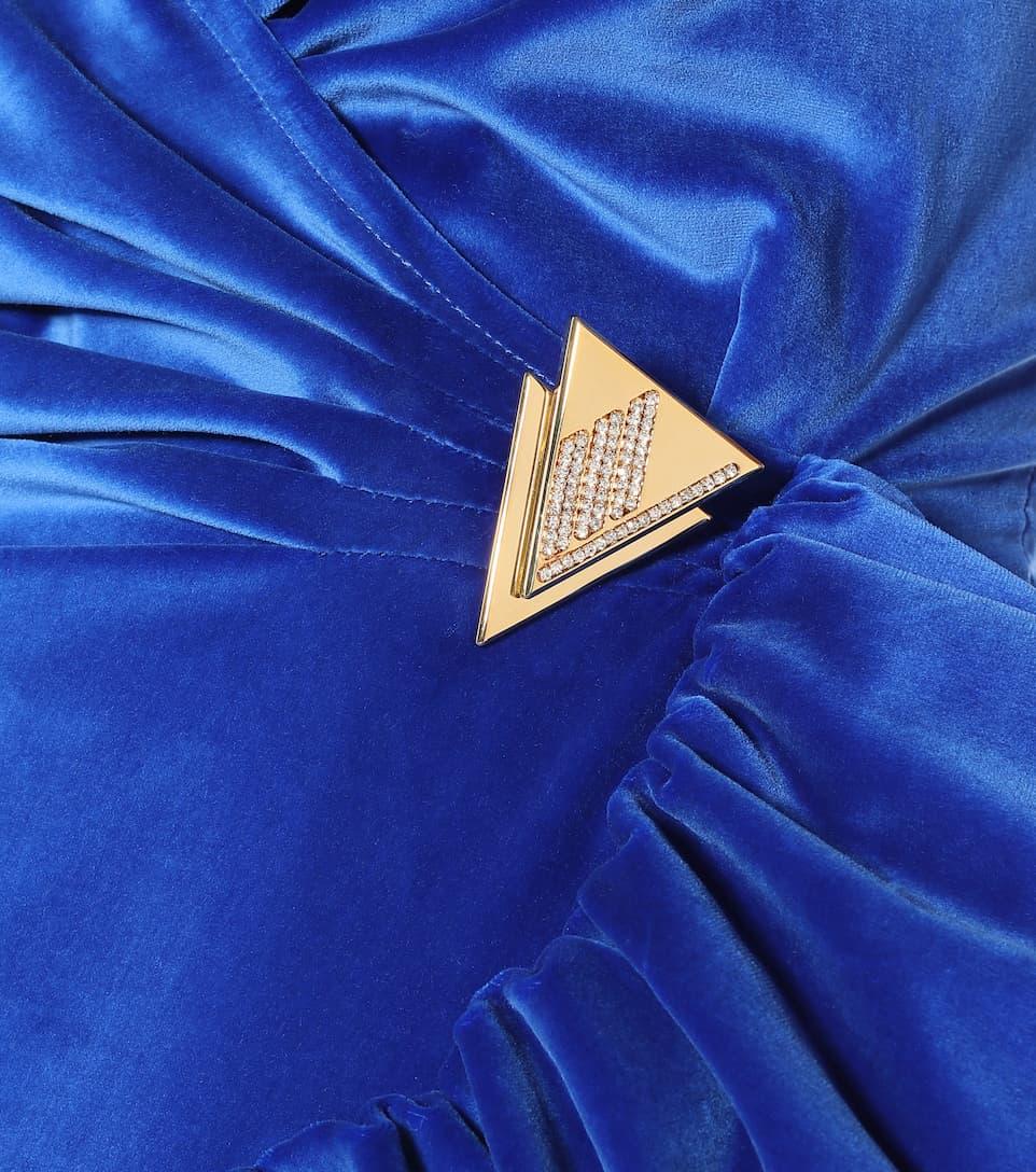 The Attico - Stretch-cotton velvet dress