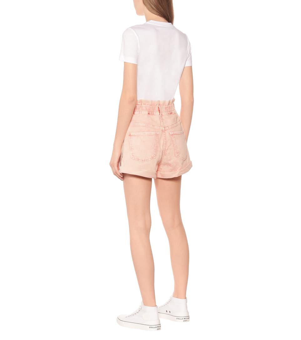 Stella McCartney - High-rise stretch-denim shorts