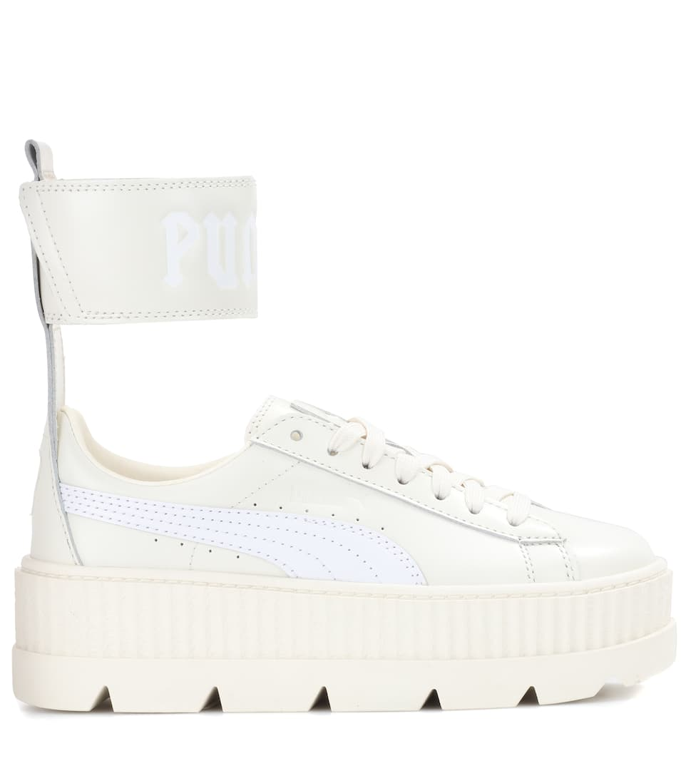1b7597282c835e Leather ankle-strap sneakers. Runway. Fenty by Rihanna