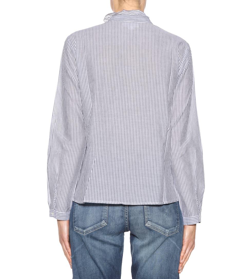 de Camisa rayas terciopelo con a bordada algodón rayas de qptw1f7R