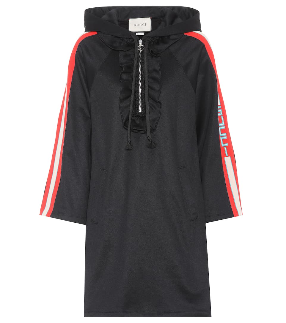 Hooded jersey dress Gucci 87eii
