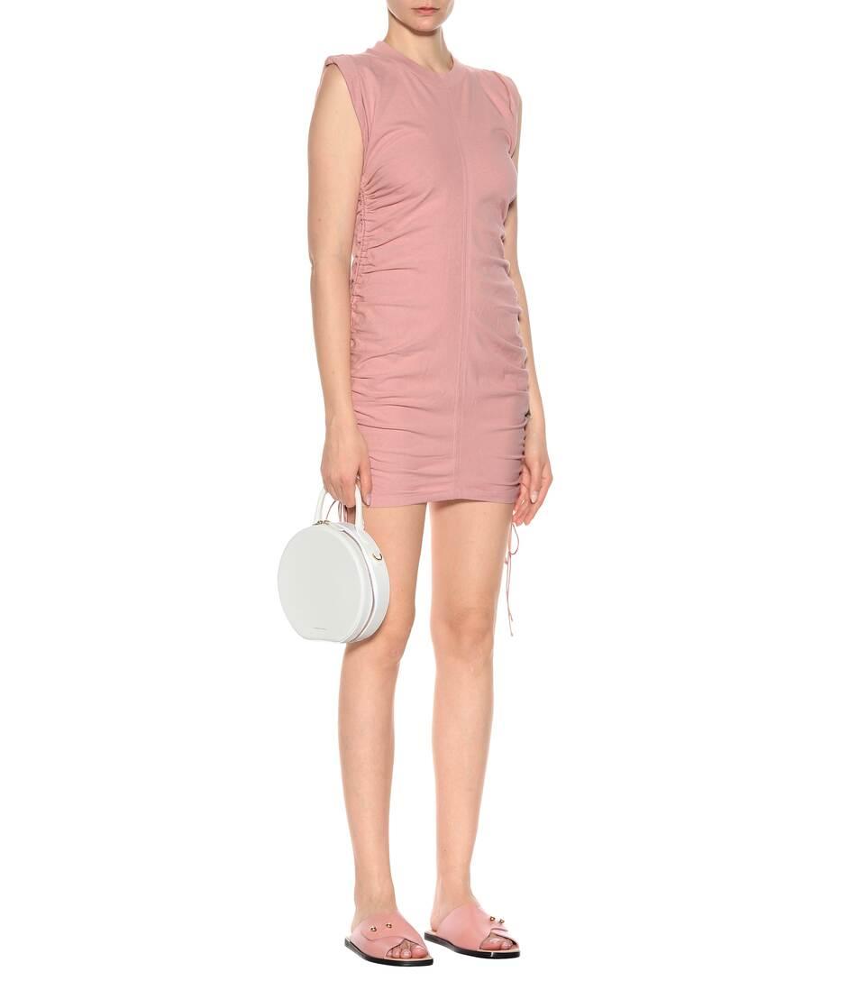 T by Alexander Wang Gerafftes Minikleid aus Baumwolle