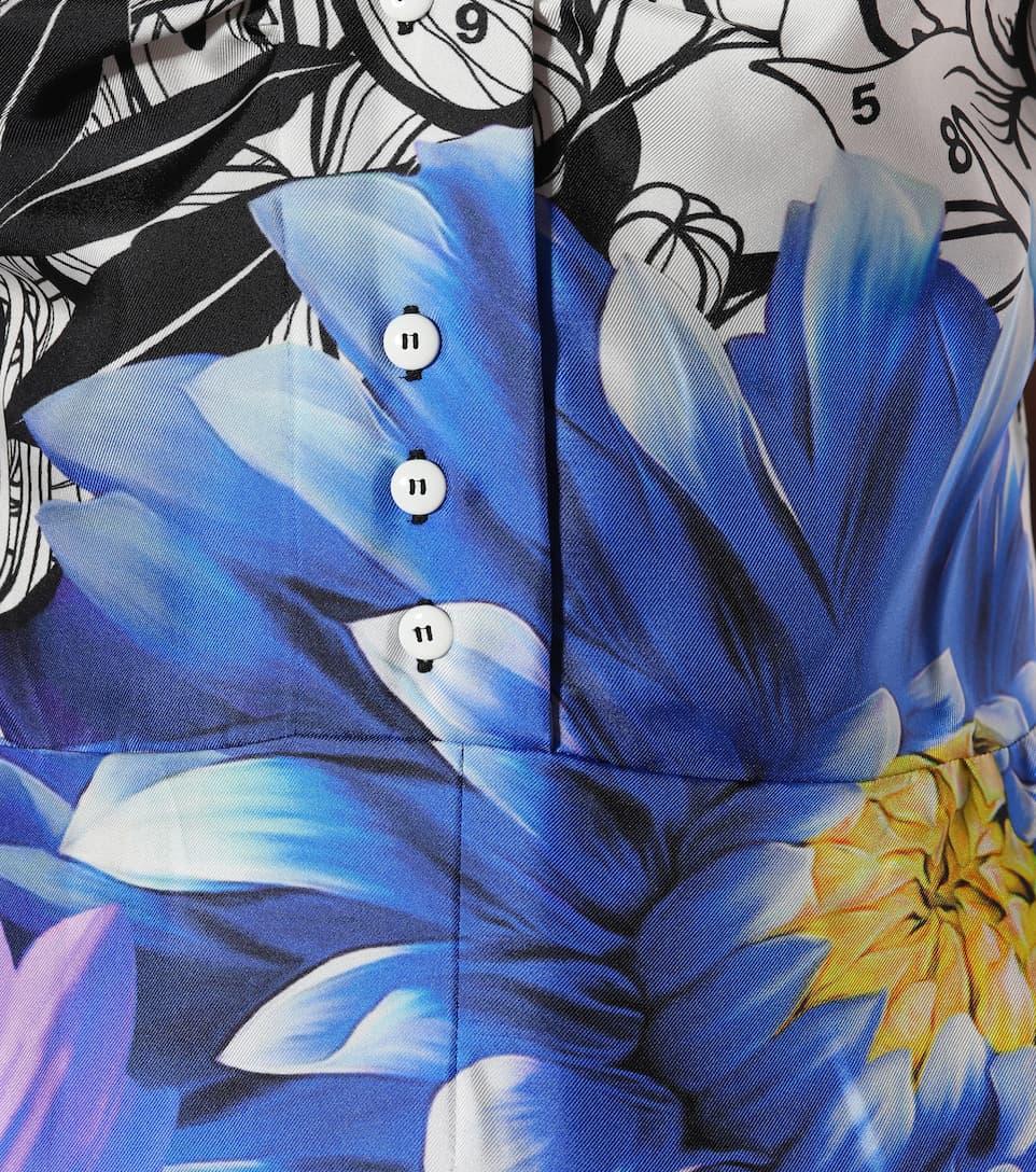 Mary Katrantzou Bedrucktes Etuikleid in Midilänge aus Seide