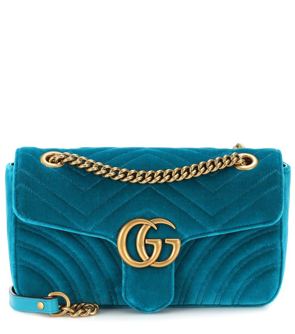 7514e2cc984 Gg Marmont Small Velvet Shoulder Bag - Gucci