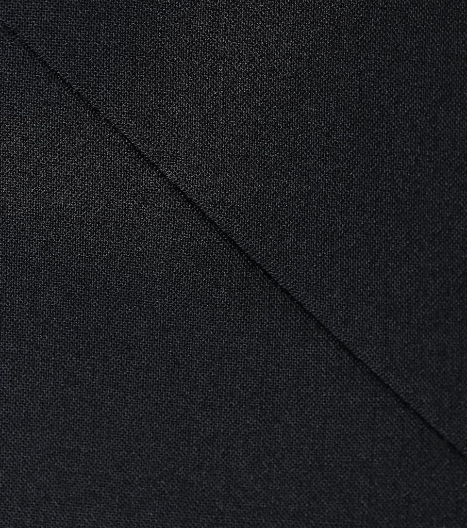 drapeado monse negro negro asimétrico monse asimétrico drapeado Vestido Vestido RqXgPv7