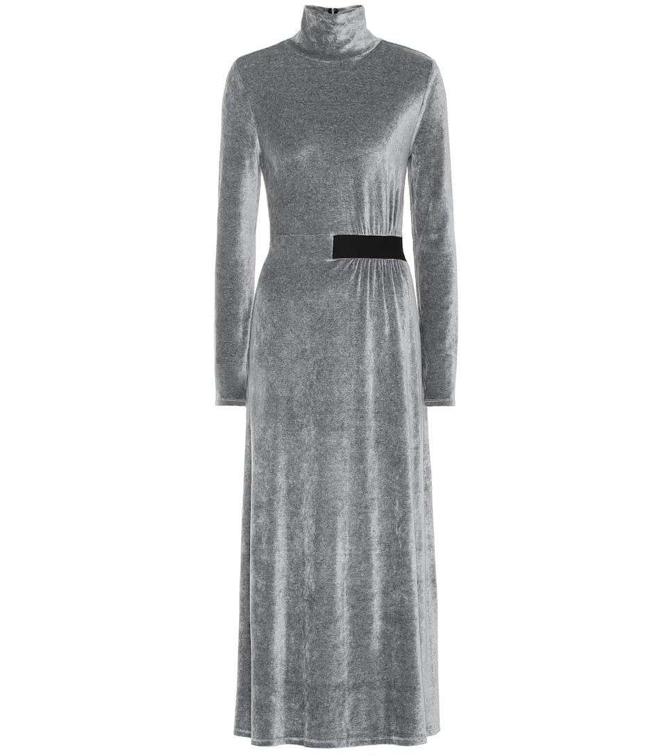 f09fcf6e9bdb Dorothee Schumacher - Soft Twist velvet dress | Mytheresa