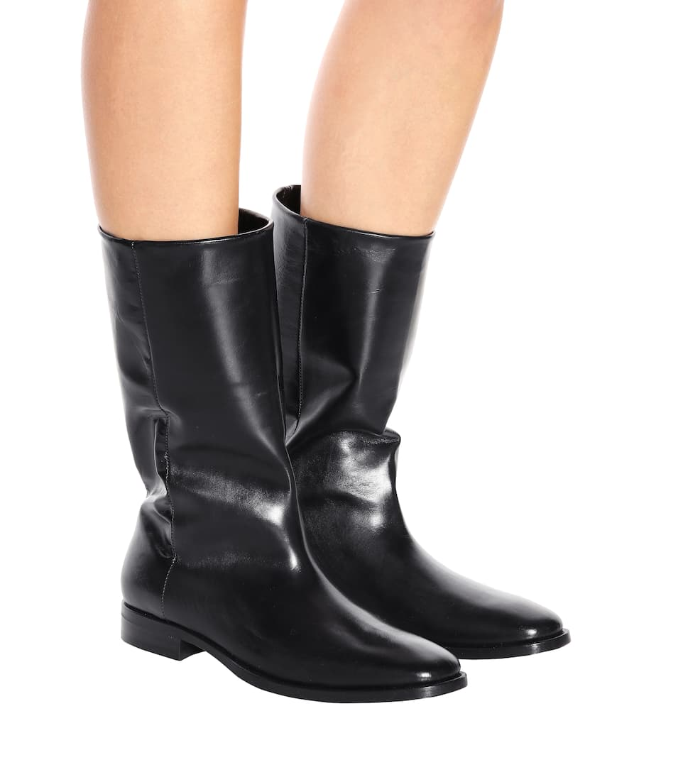 Saint Laurent Boots Matt 25 aus Leder