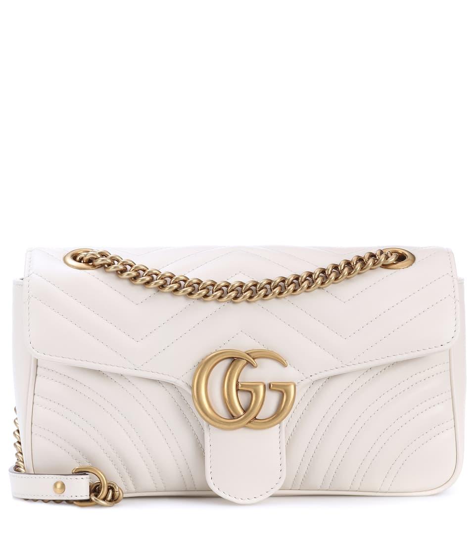 Verkauf Rabatt Gucci Schultertasche GG Marmont aus gestepptem Leder Vorbestellung JNWknoHm