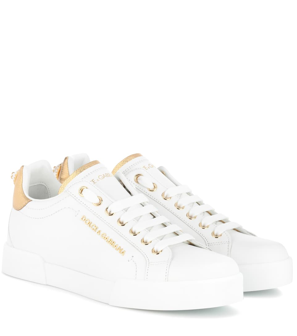 Leather Sneakers by Dolce & Gabbana