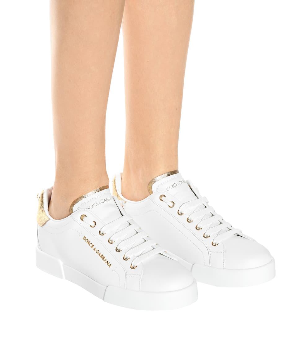 Gabbana Leder Dolce amp; Sneakers Gabbana amp; Portofino Sneakers Dolce aus qf47wyUcX