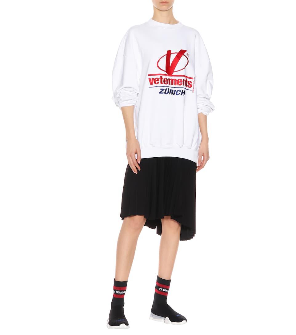 Rabatt-Countdown-Paket Vetements Sweatshirt aus Baumwolle Manchester Günstiger Preis Rabatt Professionelle Verkauf Erhalten Authentisch UB6itgn