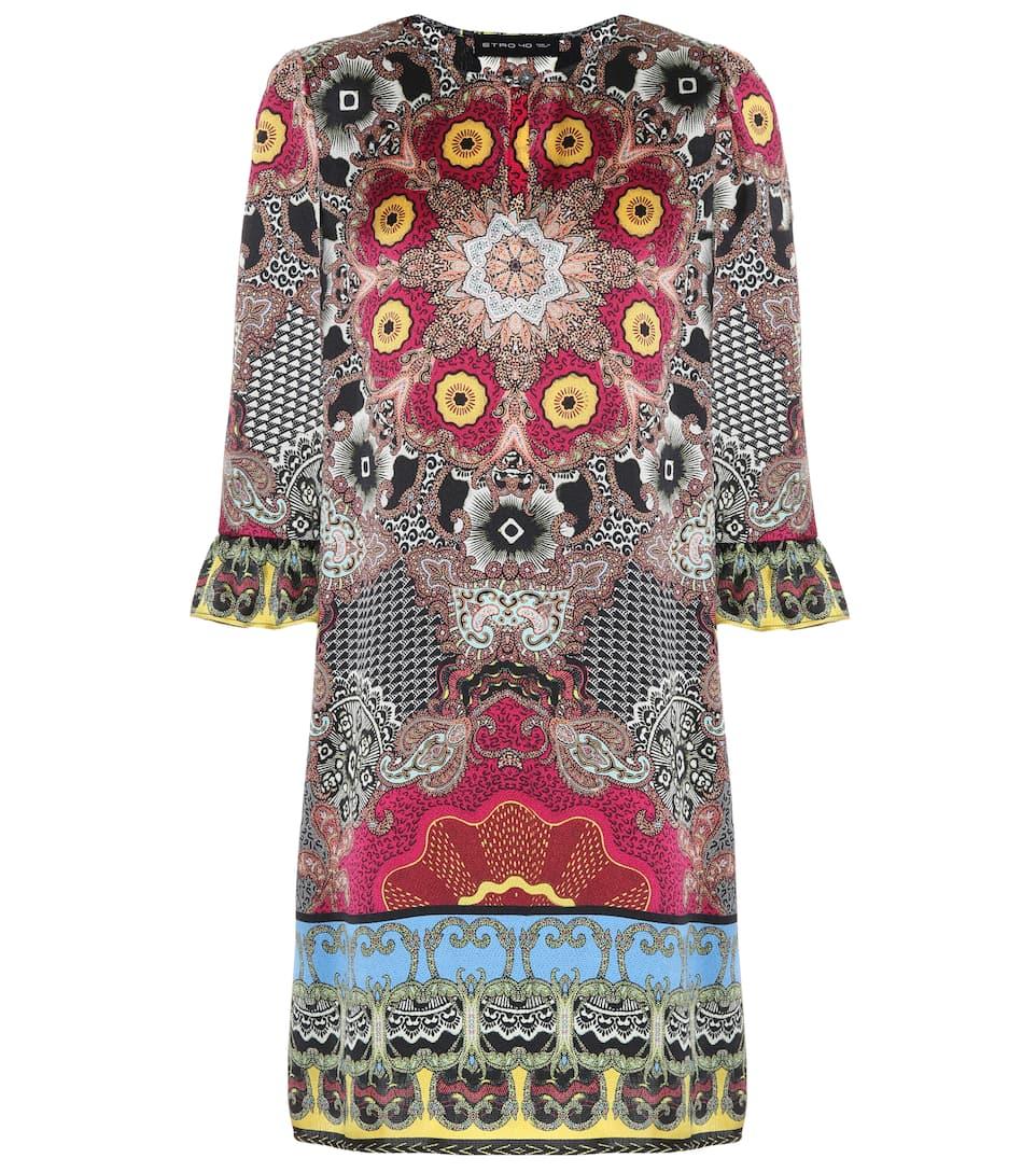 Vente De Nombreux Types De Meilleur Magasin Pour Obtenir La Sortie Etro - Robe en soie imprimée Remises Vente En Ligne MBYps