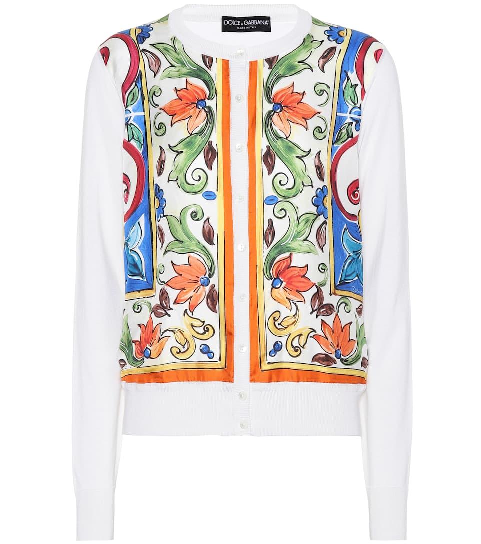 Dolce & Gabbana Bedruckter Cardigan aus Seide