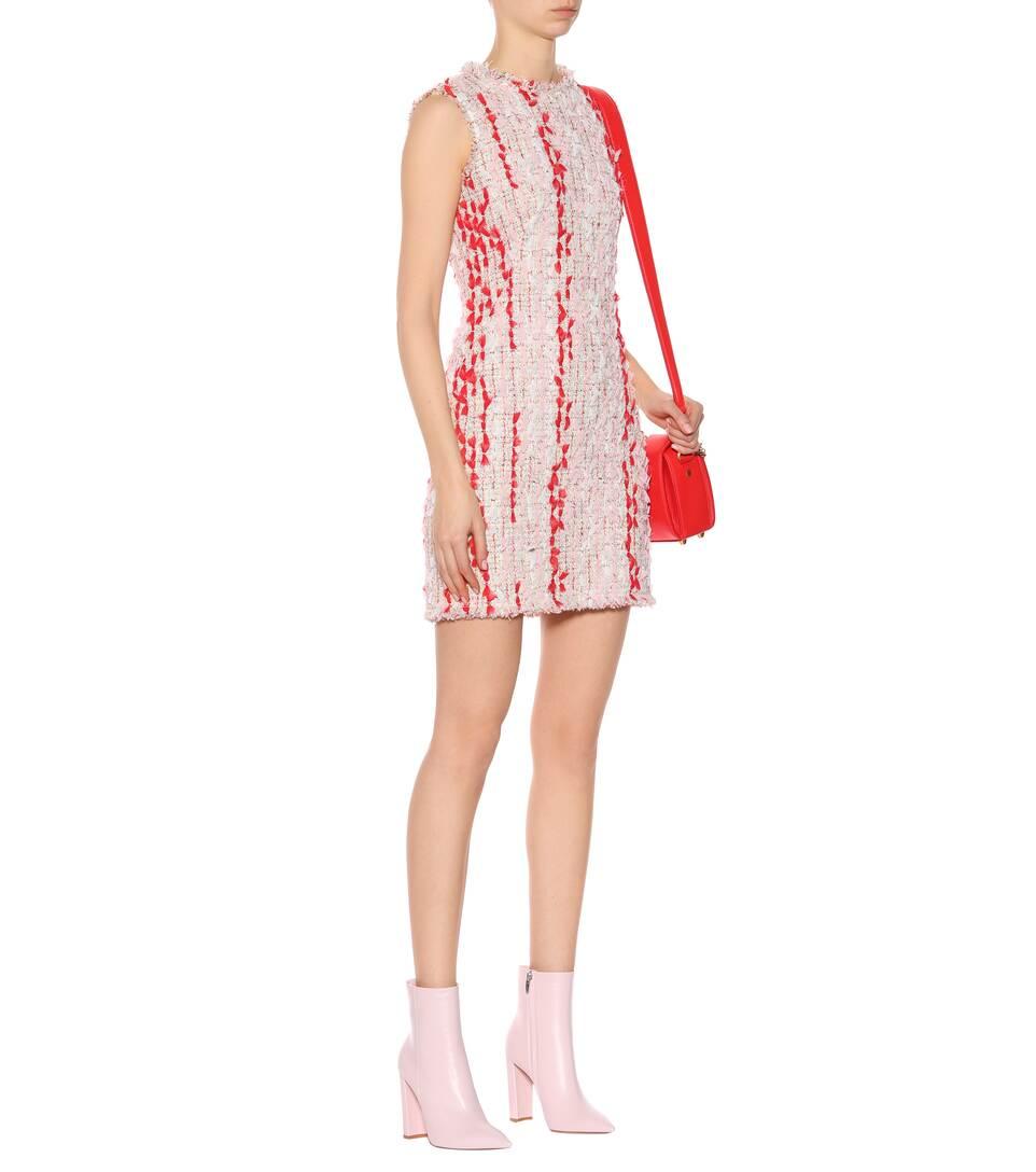 Alexander McQueen Tweed-Kleid mit Baumwolle und Wolle
