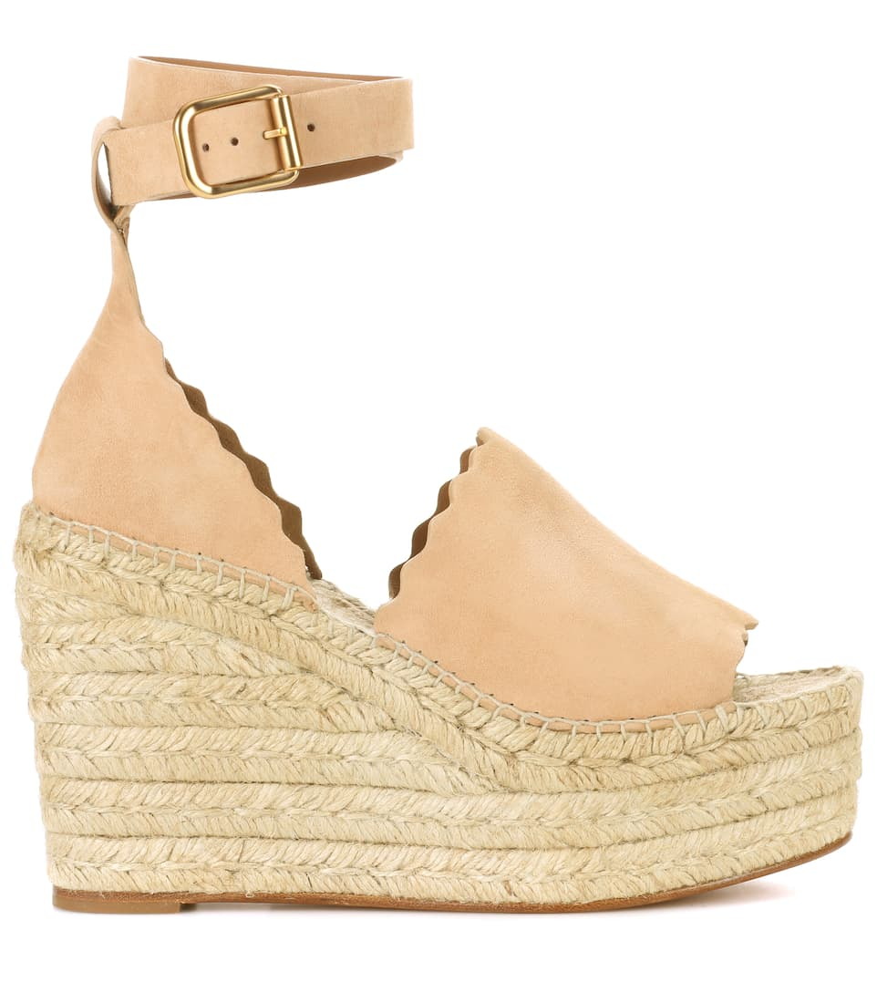 Chloé Plateau Sandals Suede From
