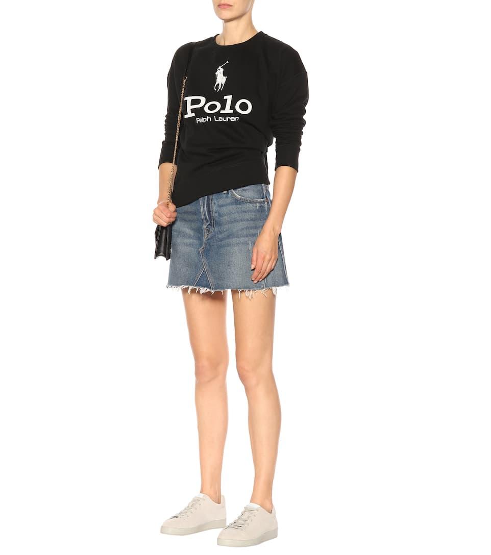 Polo Ralph Lauren Bedrucktes Sweatshirt aus einem Baumwollgemisch