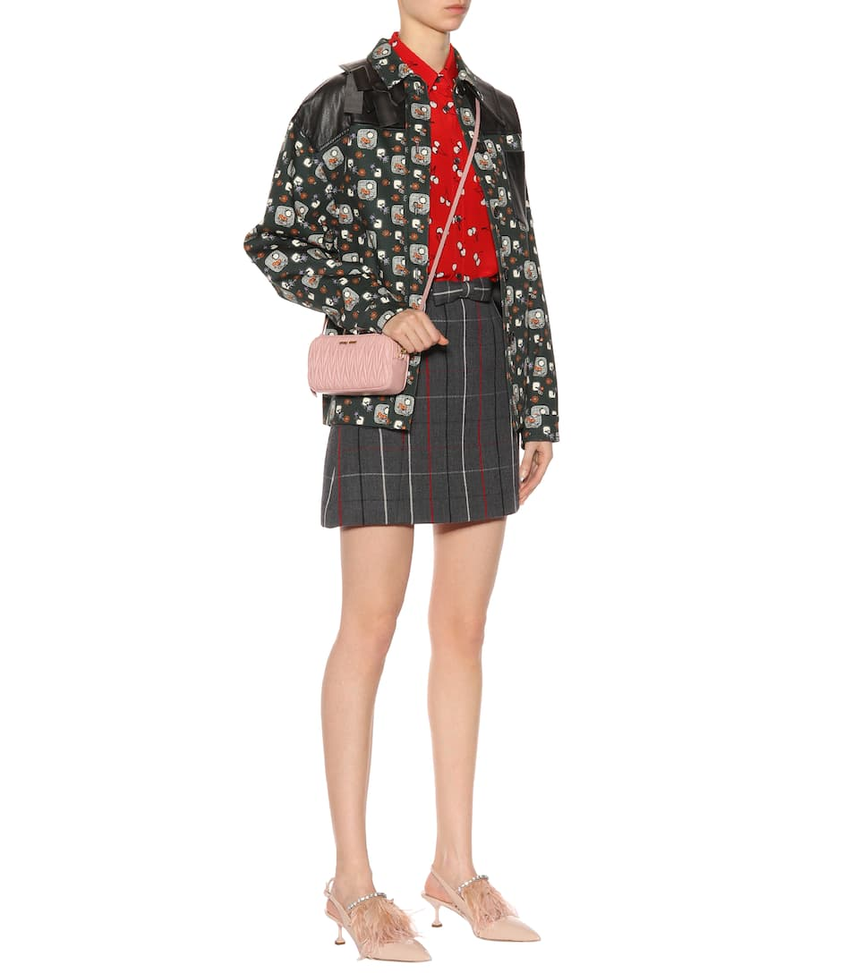 Miu Miu Bedruckte Jacke aus Baumwolle
