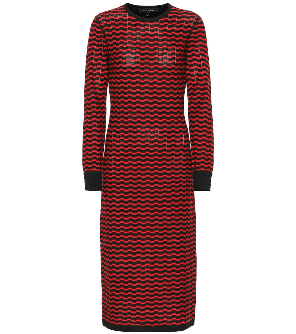 Free Shipping Pick A Best Sale Explore Zigzag stripe merino wool dress Marc Jacobs 2018 New Cheap Price ZwYuhcb