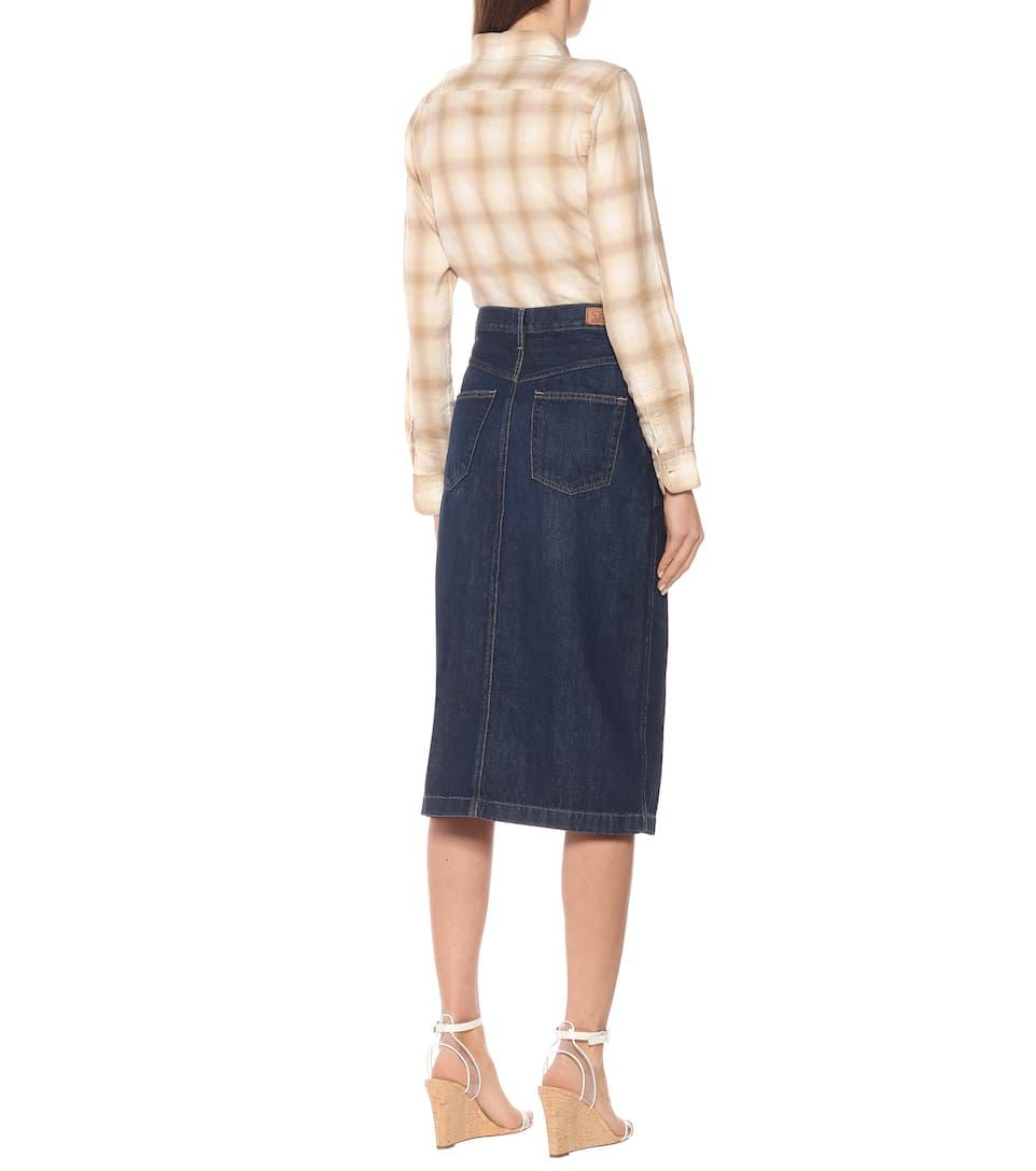 Polo Ralph Lauren - Denim midi skirt
