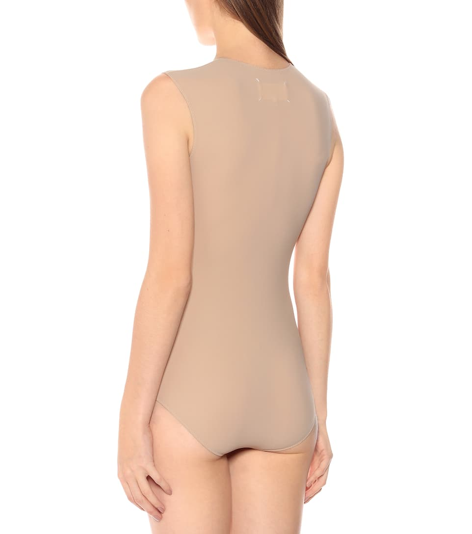 Sleeveless Stretch-Jersey Bodysuit - Maison Margiela