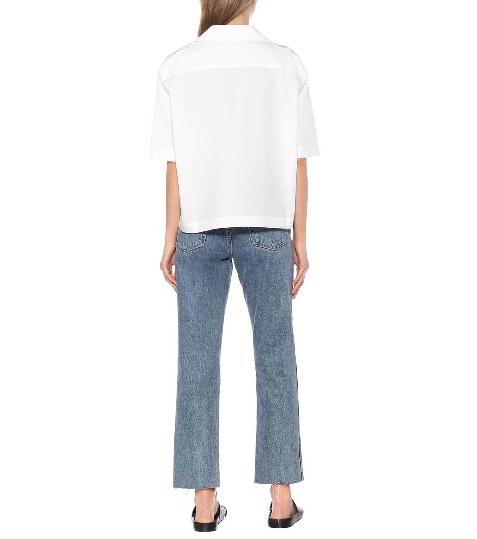 Acne Studios - Cropped cotton shirt