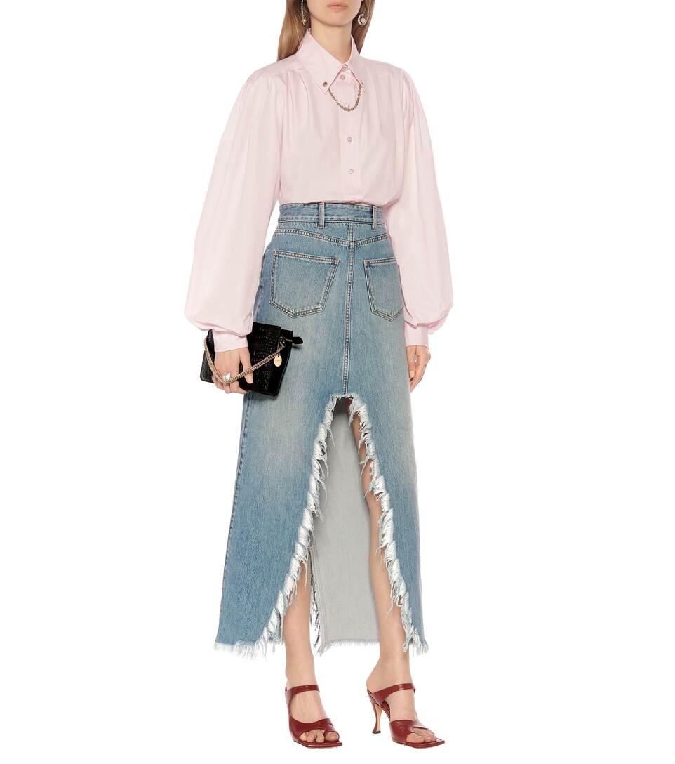 Denim Midi Skirt - Givenchy