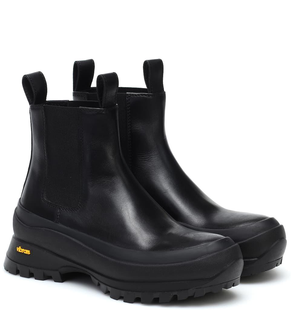 Jil Sander - Chelsea leather boots