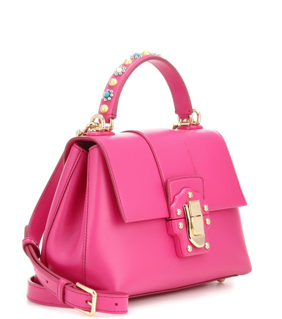 Lucia 레더 숄더백 - Dolce & Gabbana Acheter Magasins D'usine Pas Cher 4QTCSt