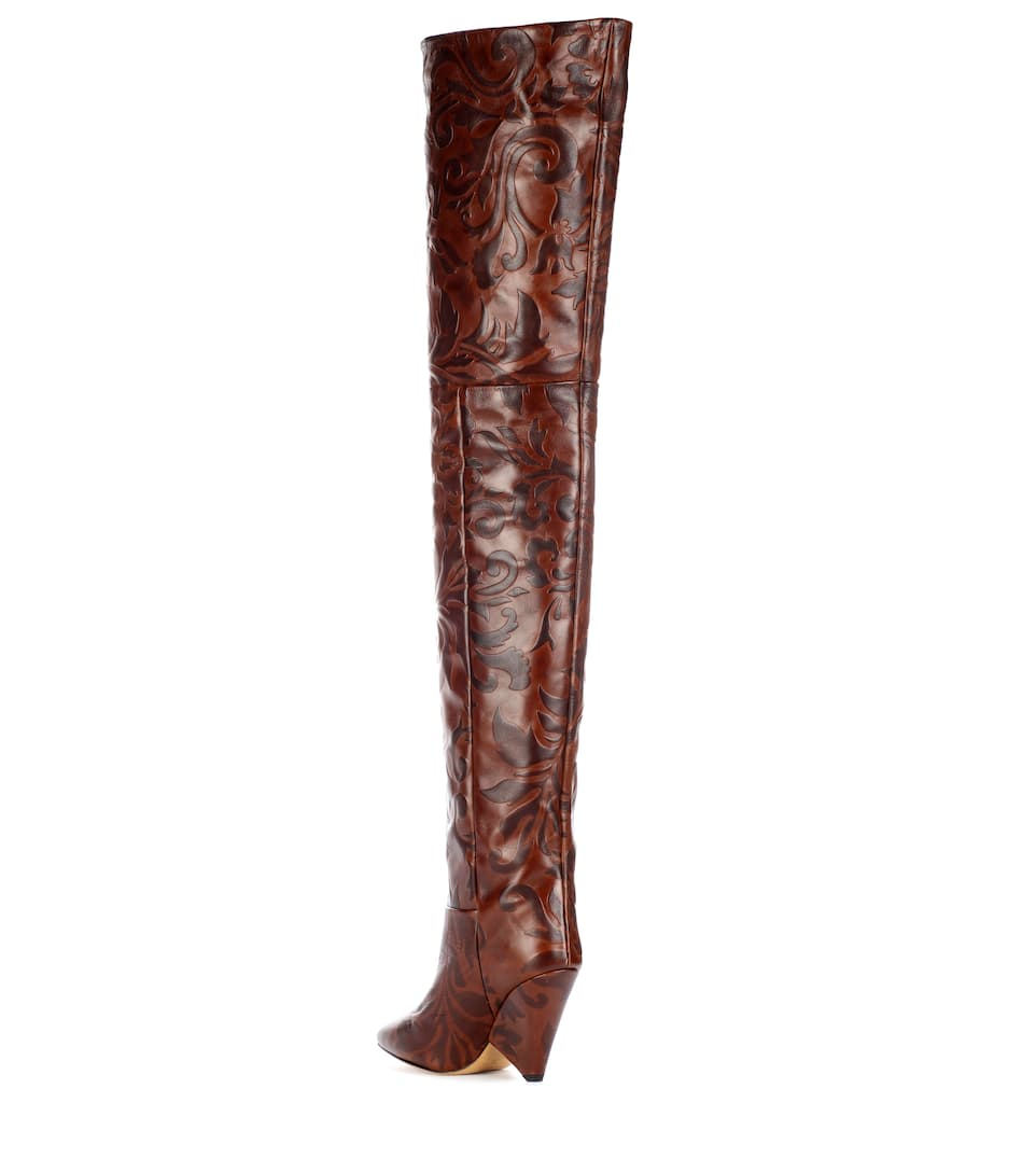 4ab7f5e3760 Lostynn embossed leather boots. Runway. Isabel Marant