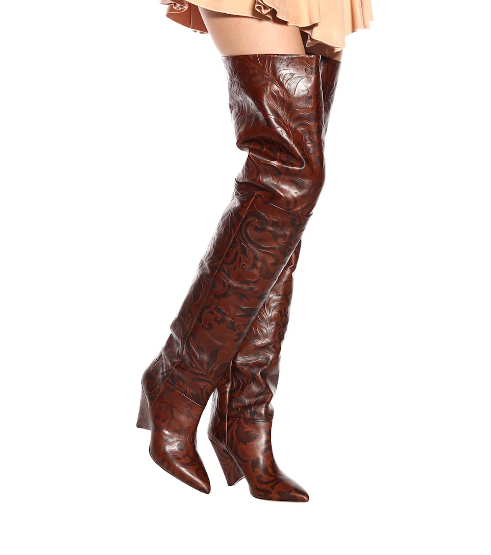 02a44cdf59b Lostynn embossed leather boots. Runway. Isabel Marant