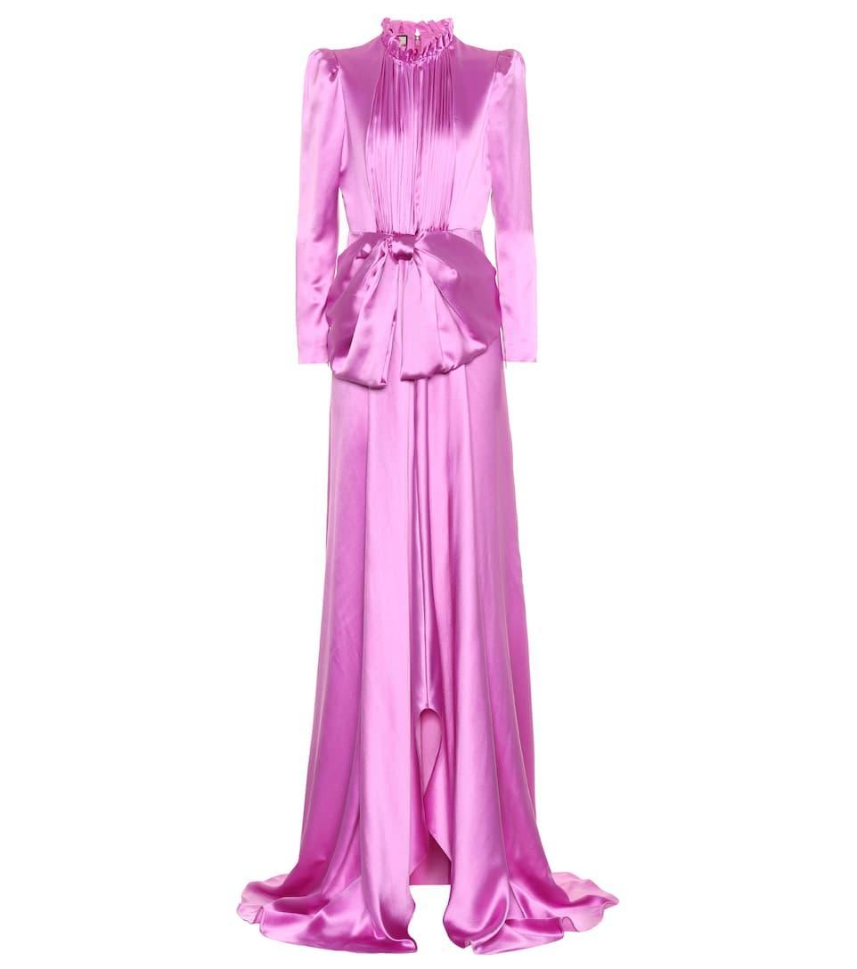 Gucci - Silk-blend satin dress | mytheresa.com