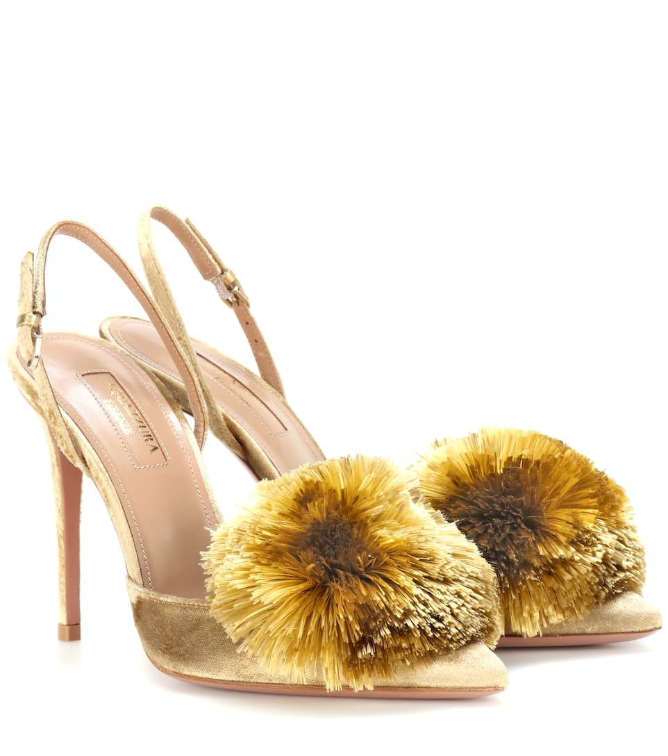 Aquazzura Exklusiv bei mytheresa.com – Slingback-Pumps Powder Puff 105