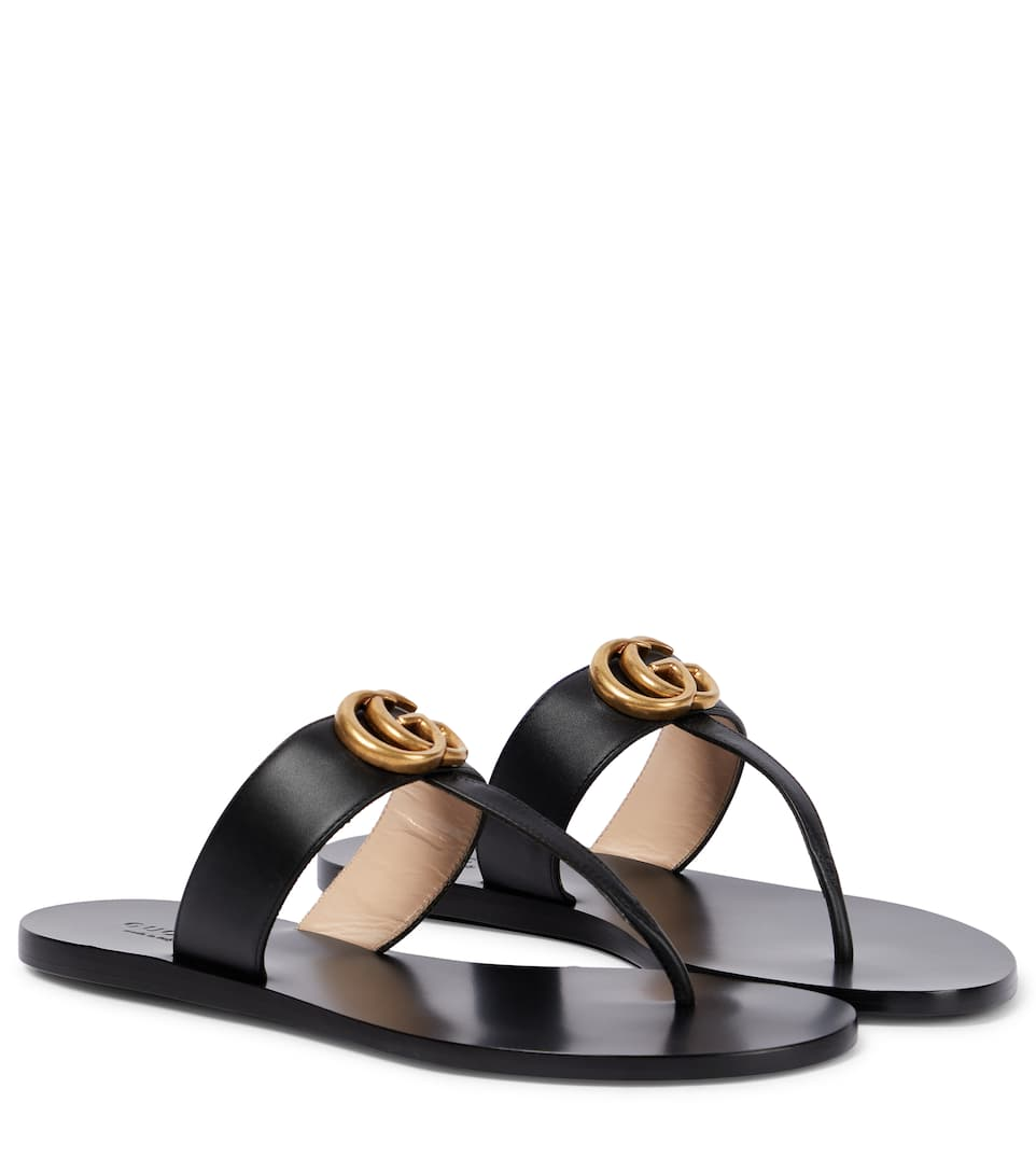 e56c538a72a Double G Leather Sandals - Gucci
