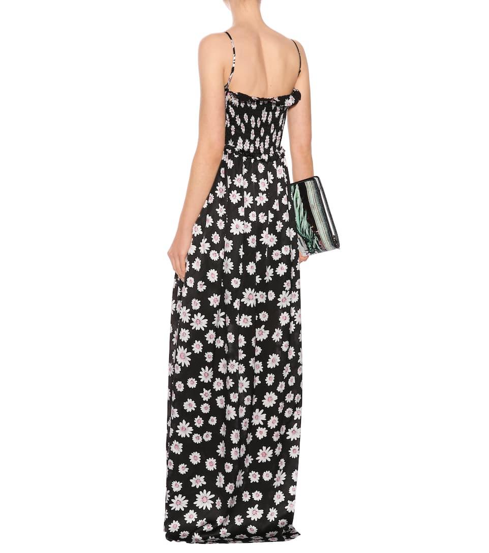 Balenciaga Jacquard-Kleid aus Seide mit Blumenprint
