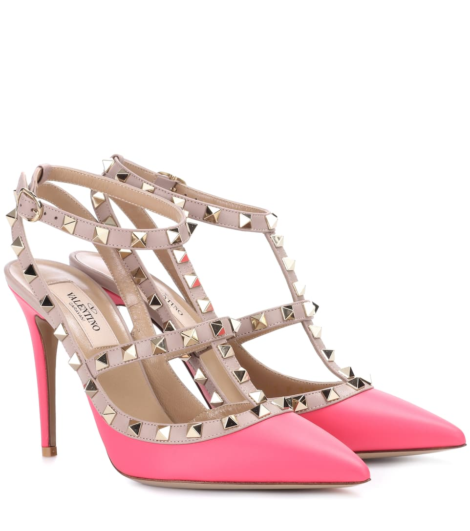 Factory Outlet Online Valentino Valentino Garavani Rockstud leather pumps Pink Cheap Sale Visit Cheap Price For Sale Outlet Footlocker Finishline N42rUKlEu