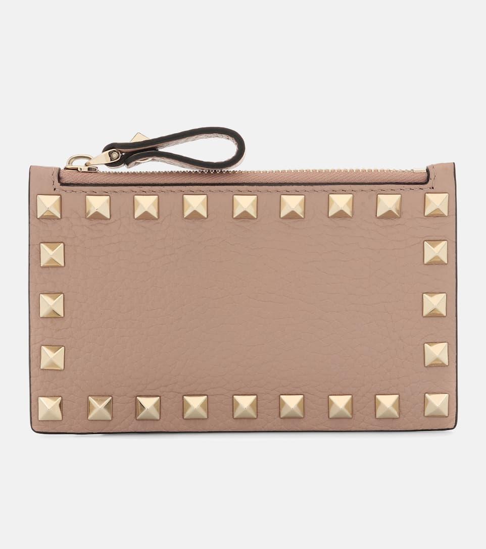 Rockstud leather cardholder Valentino HYrm1