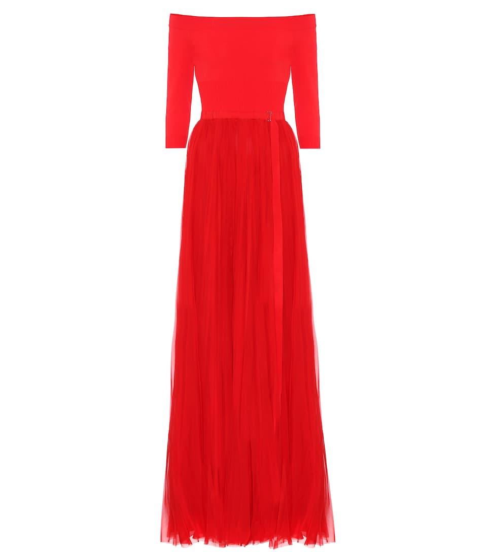 Alexander Mcqueen Maxi Dress In Silk