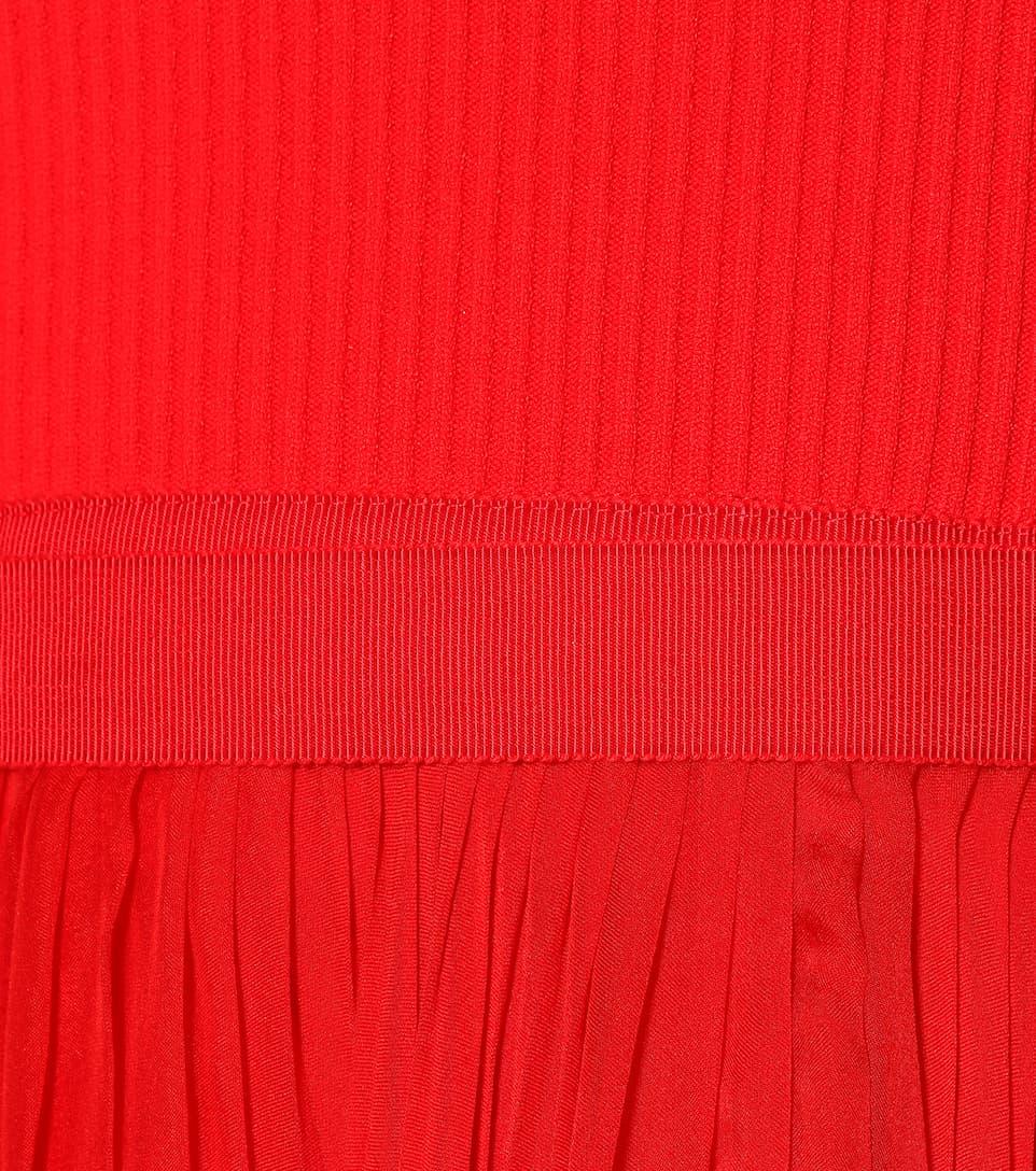 Alexander McQueen - Robe longue à encolure bardot en soie Vente De La France Vente Extrêmement Acheter Votre Propre Jeu Dernier qEOApDBqU