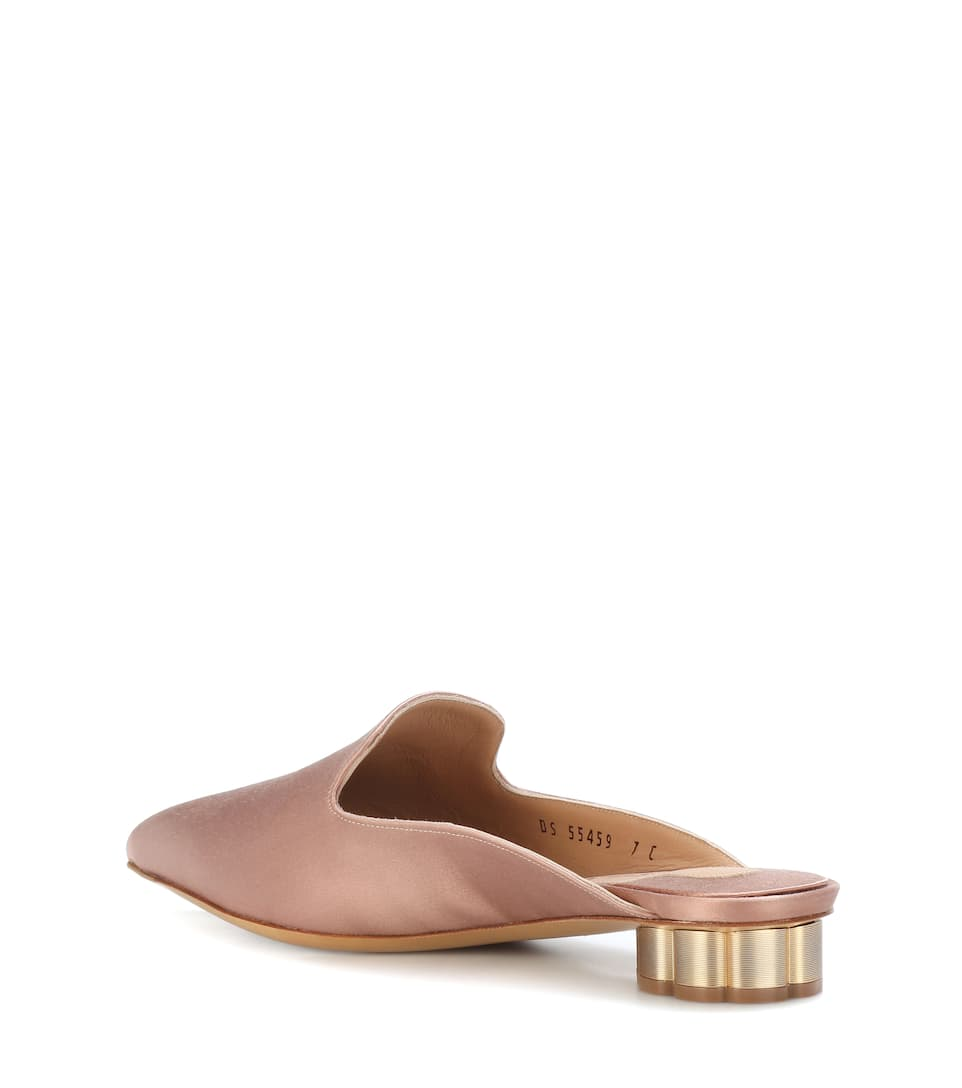 Salvatore Ferragamo Maida 20 satin mules Clearance Sale Online Very Cheap Online Free Shipping Cost Low Price Cheap Price YBcZ6U