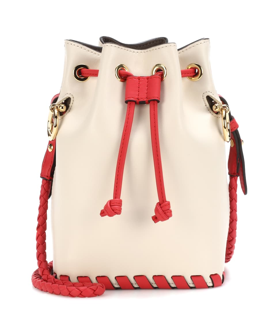 a7e784467e6 Mon Trésor Small Leather Bucket Bag