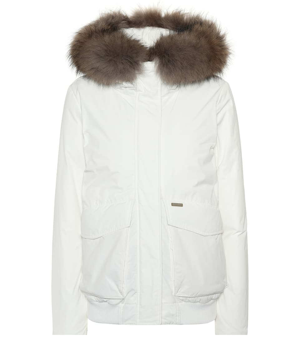 Arctic Military Giacca Woolrich Con W's Bianca Donna Pelliccia zSwHwYq6