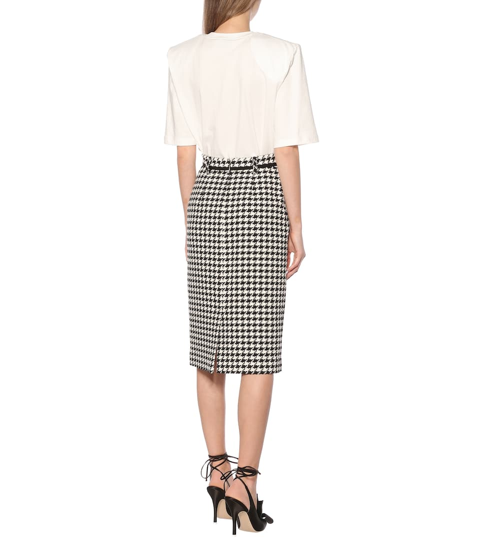 MSGM - Houndstooth tweed skirt