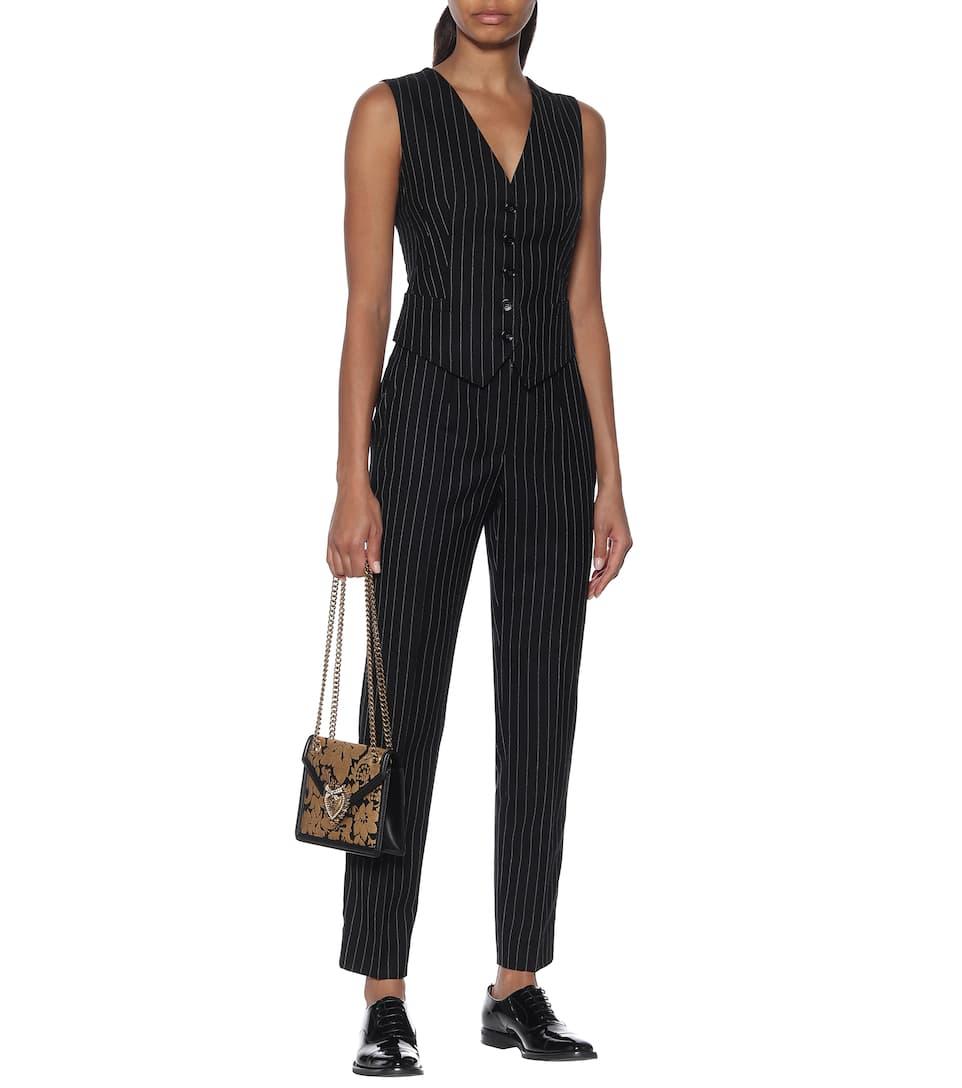 Dolce & Gabbana - Striped wool-blend vest