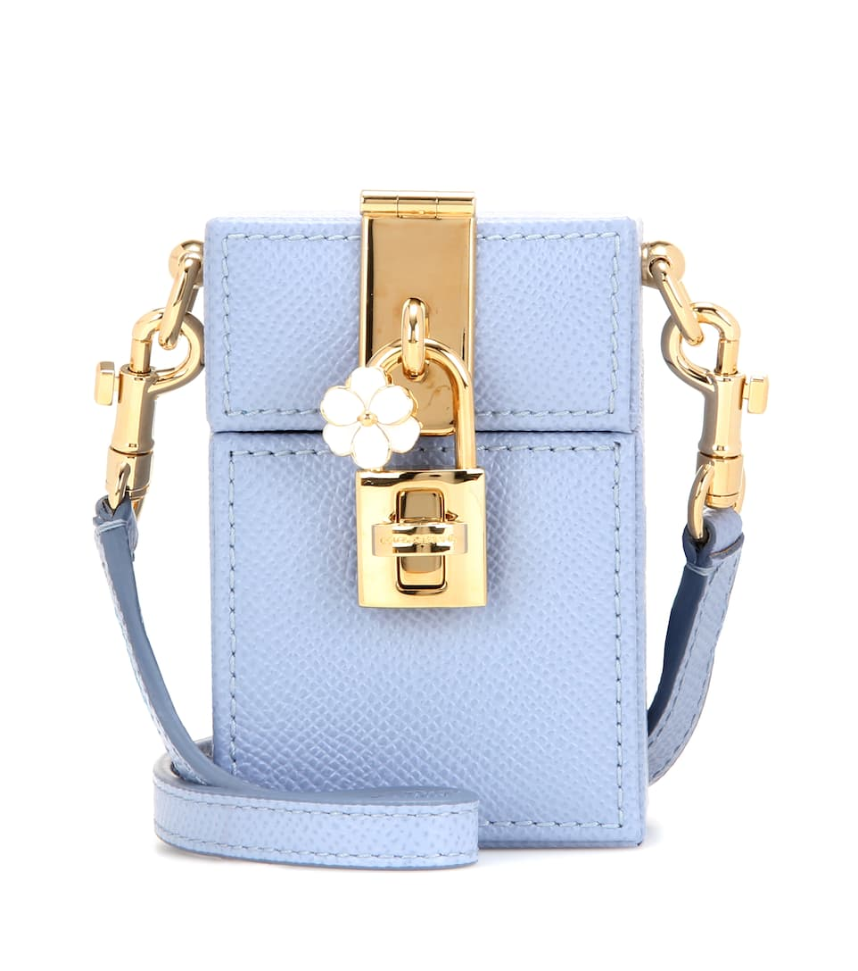 Dolce & Gabbana Dolce Box Mini leather shoulder bag