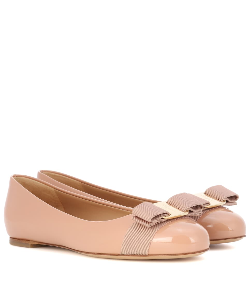 Salvatore Ferragamo Varina patent leather ballerinas New Blush Choice Sale Online Free Shipping Sast Outlet Online Shop Buy Cheap Popular Free Shipping Best Store To Get l6FiEfmVK