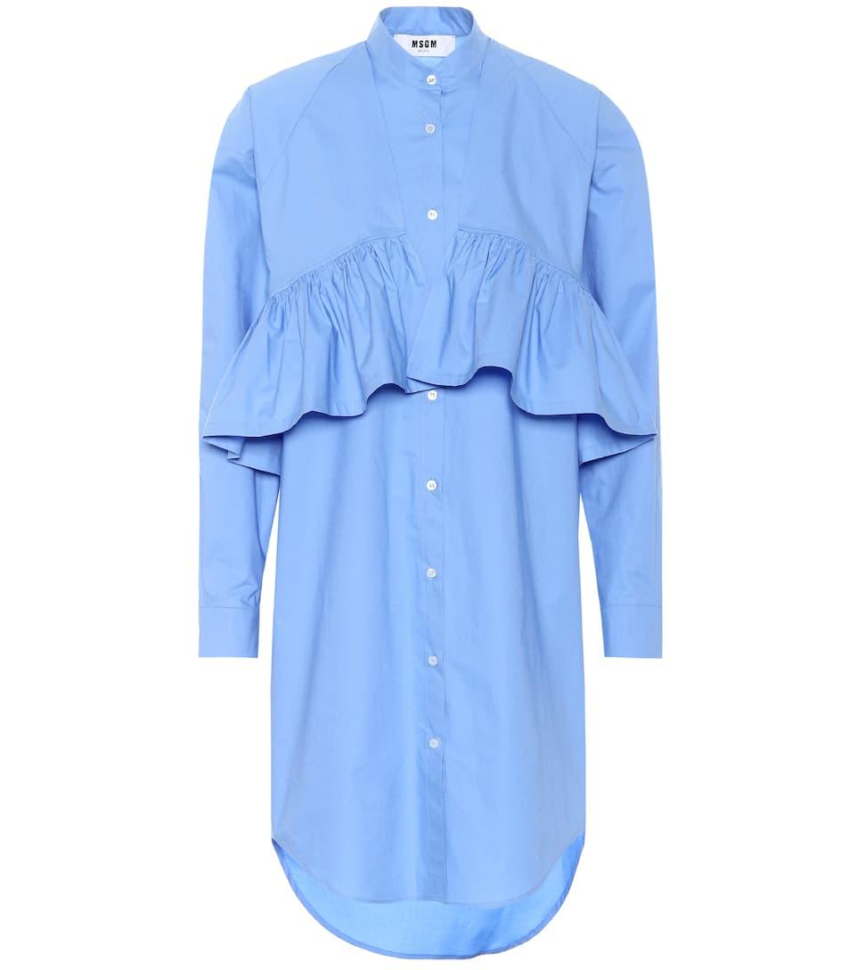 MSGM - Robe chemise en coton