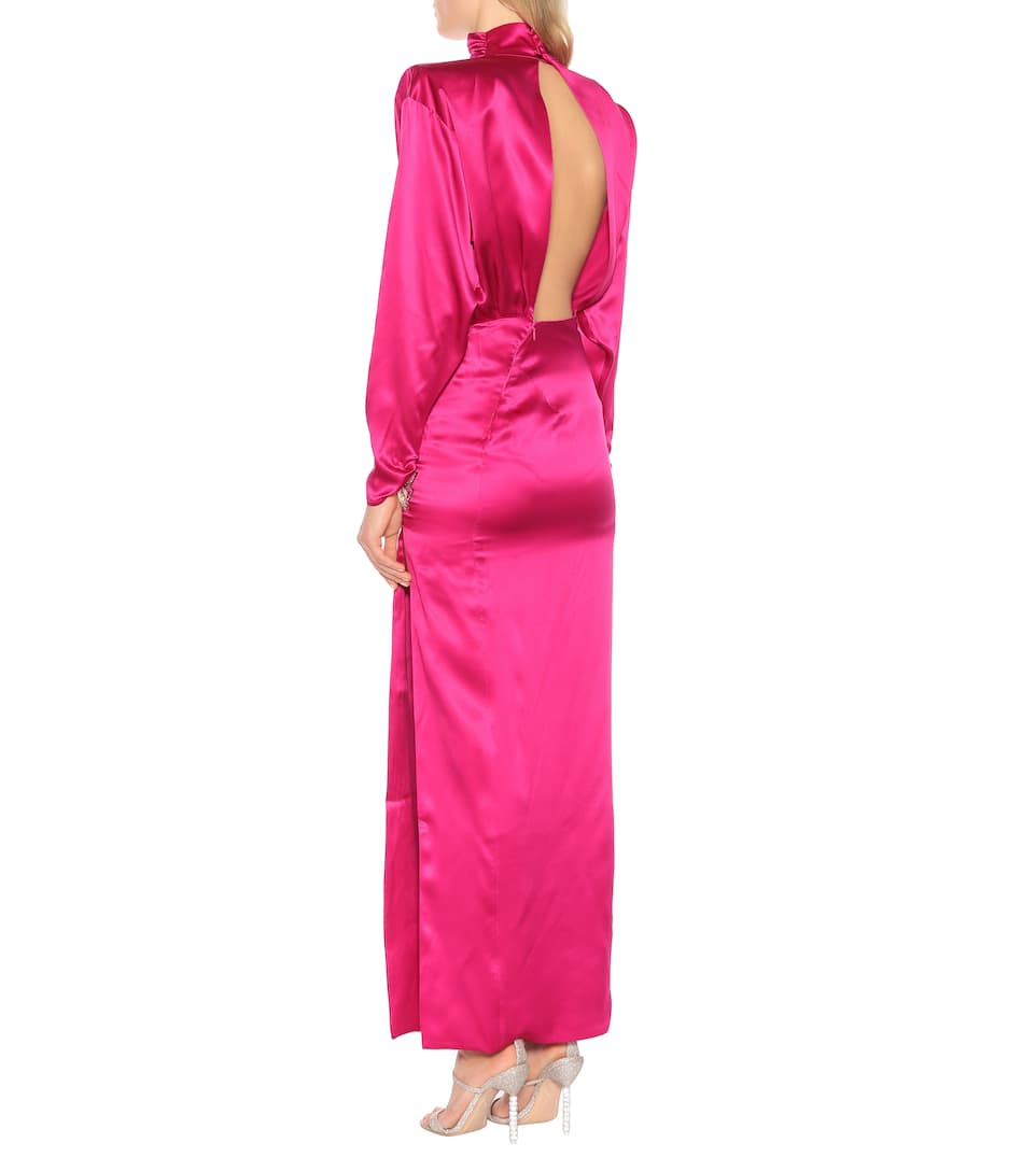 official site special sales best sale Embellished silk-satin dress