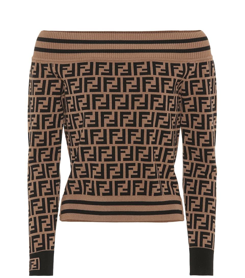 Logo Intarsia Sweater by Fendi
