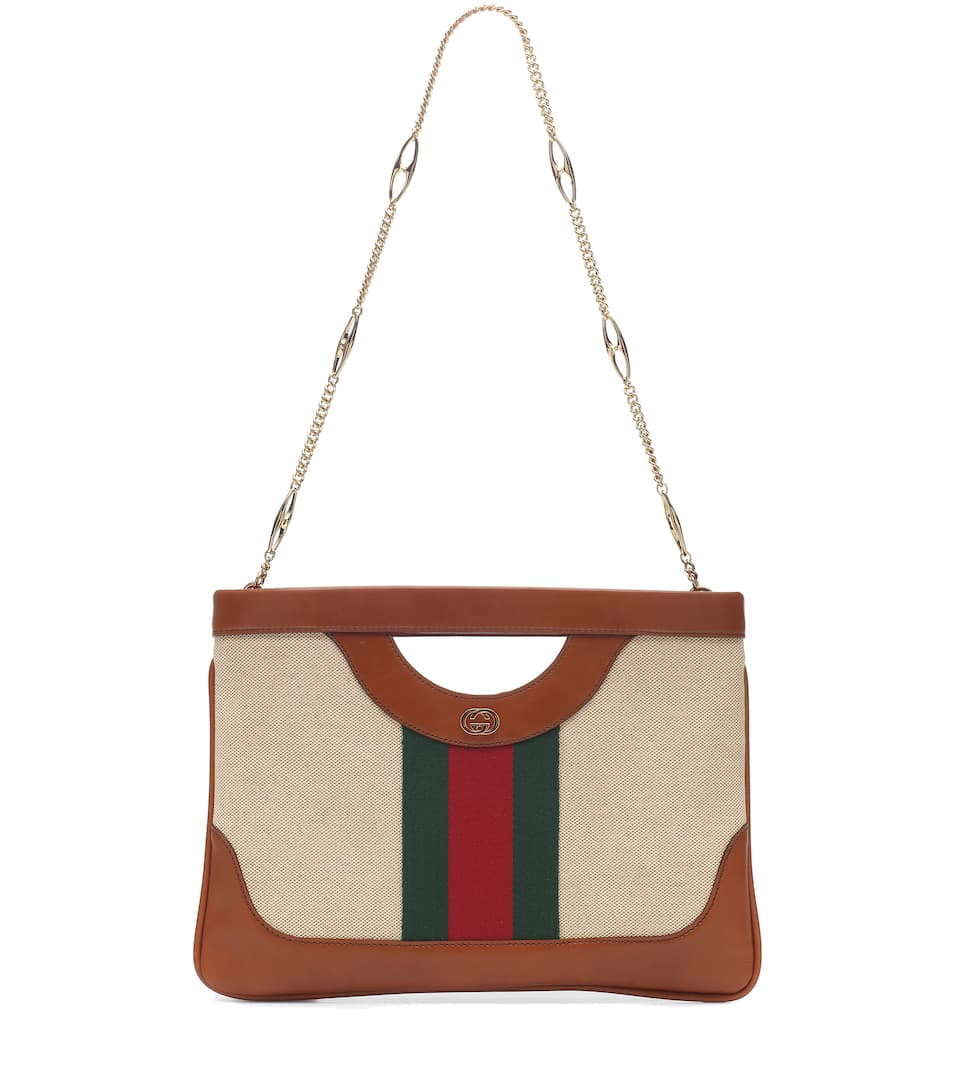 c3d15e9aea23 Gucci Gg Vintage Canvas & Leather Shoulder Bag - Beige | ModeSens