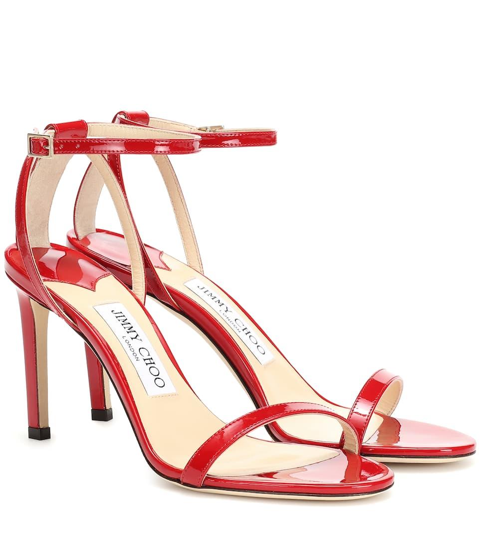 Jimmy Choo Sandals Minny 85 leather sandals